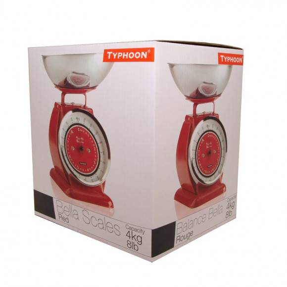 TYPHOON Waga kuchenna BELLA czerwona / Btrzy