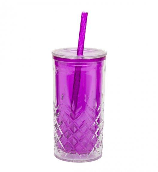 ALADDIN Kubek ze słomką do zimnych napojów CLASSIC 0,47 l fioletowy / FreeForm