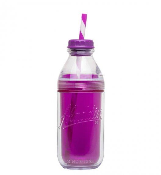 ALADDIN Butelka ze słomką do zimnych napojów COLD 0,47 l fioletowa / FreeForm