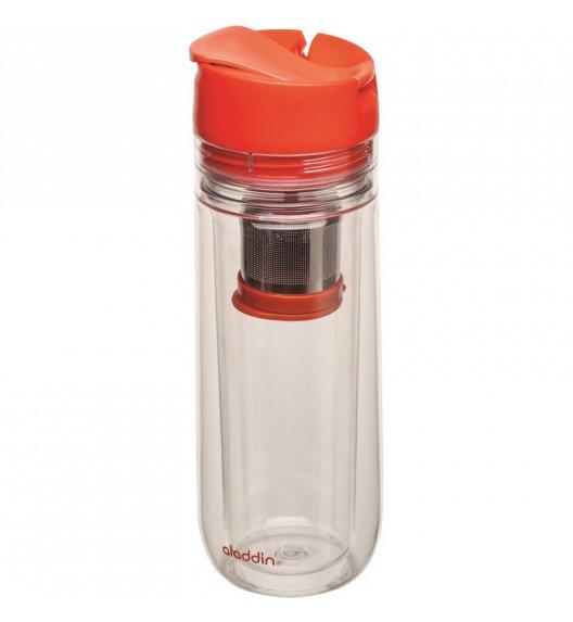 ALADDIN Kubek termiczny z zaparzaczem w pokrywce HOT BEVERAGE 0,35 l czerwony / FreeForm