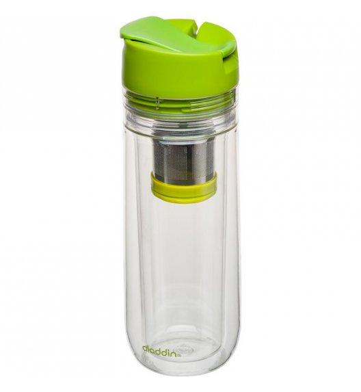 ALADDIN Kubek termiczny z zaparzaczem w pokrywce HOT BEVERAGE 0,35 l zielony / FreeForm