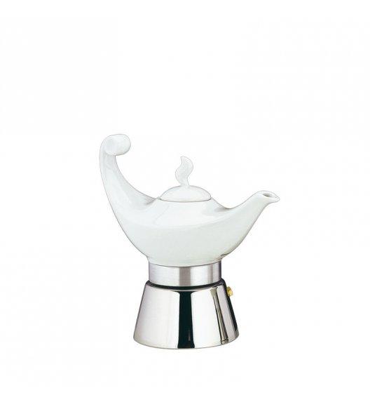 CILIO ALADINO Stalowa kawiarka na 4 espresso z porcelanowym dzbankiem / indukcja / FreeForm