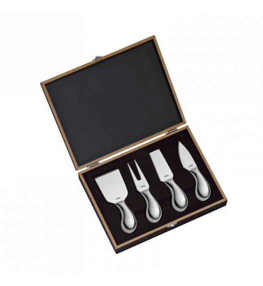 CILIO Zestaw noży do serów PIAVE ozdobne pudełko drewniane / FreeForm