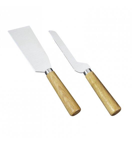 CILIO Zestaw 2 noży do serów SICILIA dębowe trzonki / FreeForm