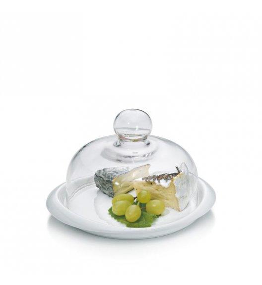 KELA Talerz do serwowania serów PETIT z pokrywką szklaną / FreeForm