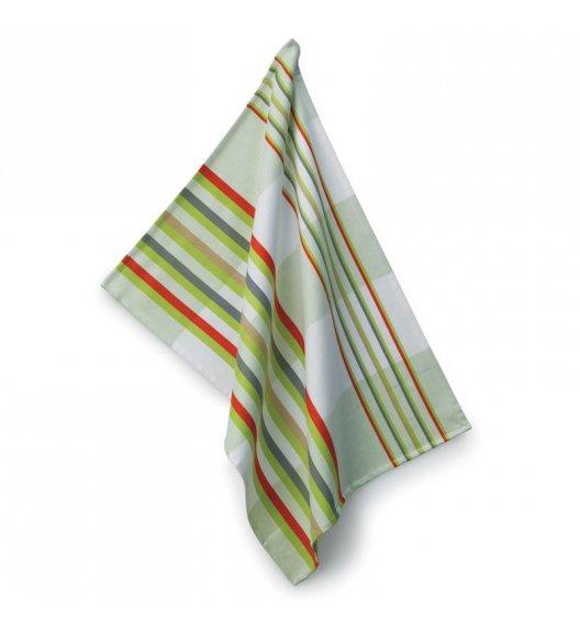 KELA Ściereczka kuchenna AMALIE 70 x 50 cm, zielone pasy / FreeForm