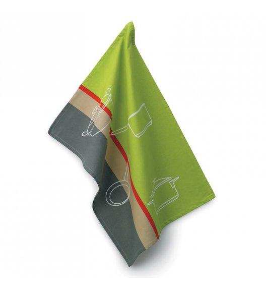 KELA Ściereczka kuchenna AMALIE 70 x 50 cm, szaro-zielona / FreeForm