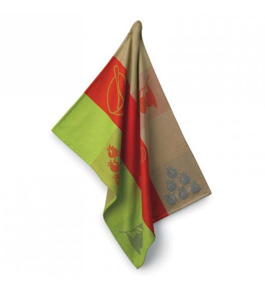 KELA Ściereczka kuchenna AMALIE 70 x 50 cm, czerwono-zielona / FreeForm