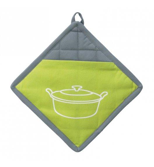 KELA Uchwyt do gorących naczyń AMALIE 20 x 20 cm, szaro-zielony / FreeForm