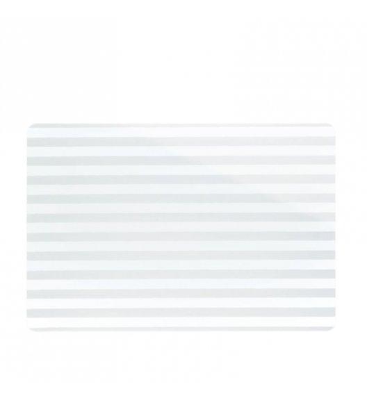 KELA Podkładka na stół CADO biała w paski / FreeForm