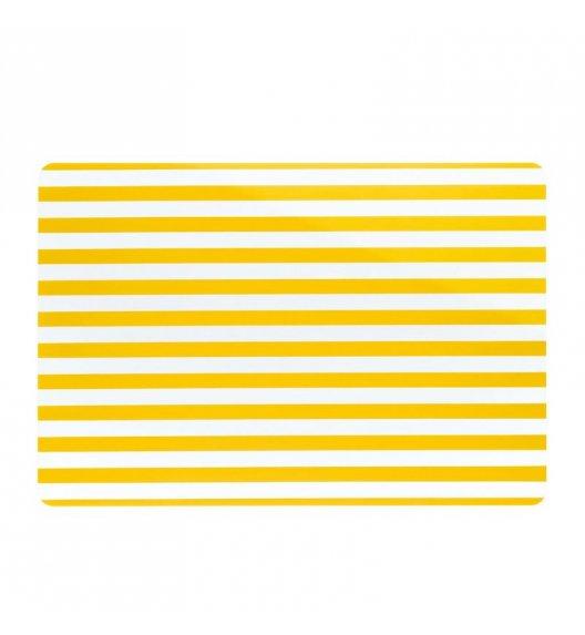 KELA Podkładka na stół CADO żółta w paski / FreeForm