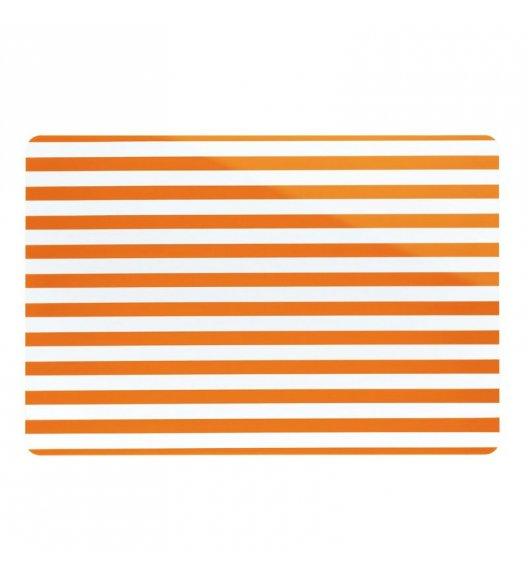 KELA Podkładka na stół CADO pomarańczowa w paski / FreeForm