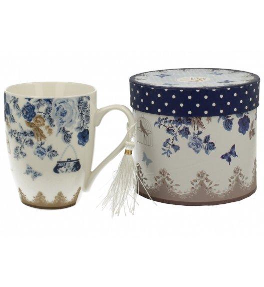 DUO ALASKA Kubek bullet porcelanowy 300 ml / niebieskie róże