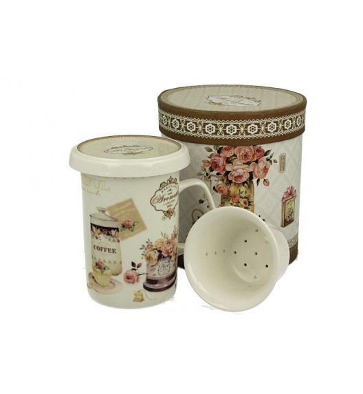 DUO ROMANTIC Kubek z zaparzaczem 300 ml / porcelana