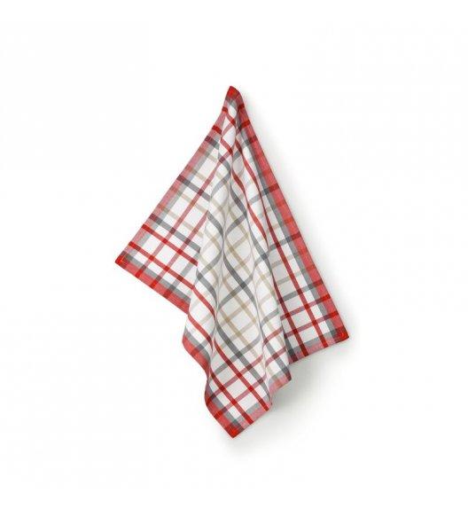 KELA Ściereczka kuchenna TABEA CUPS 70 x 50 cm, biała kratka / FreeForm