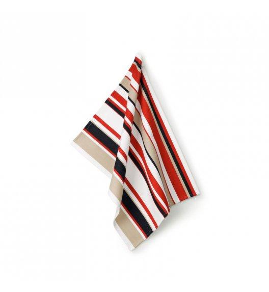 KELA Ściereczka kuchenna TABEA CUPS 70 x 50 cm, czerwone paski / FreeForm