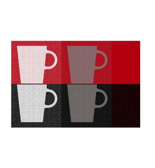 KELA Podkładka na stół TABEA CUPS 43,5 x 28,5 cm czerwono-czarna / FreeForm