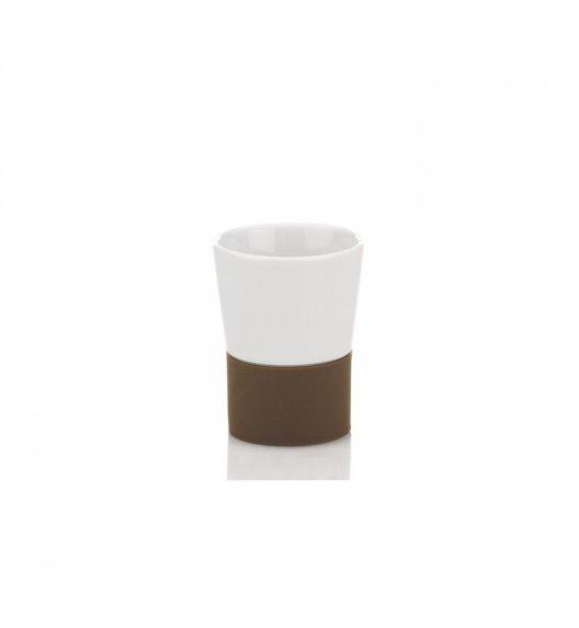 KELA Ceramiczny kubek łazienkowy PIANO brązowa podstawka / FreeForm