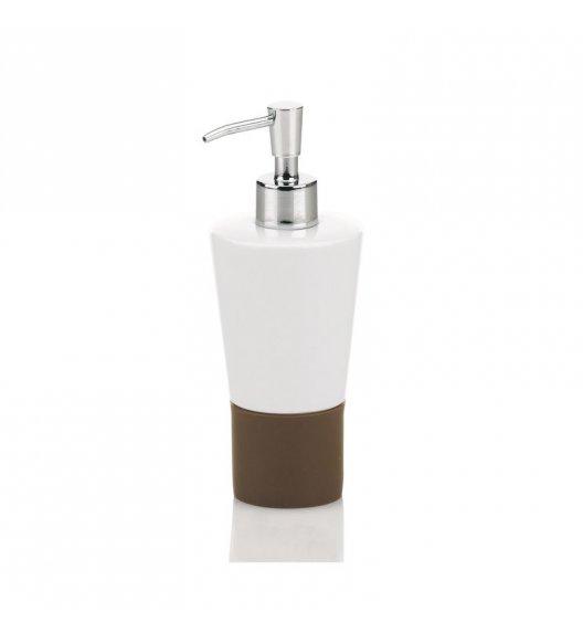 KELA Ceramiczny dozownik na mydło PIANO brązowa podstawka / FreeForm