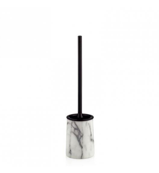 KELA Marmurowy zestaw toaletowy VARDA szczotka + pojemnik / FreeForm
