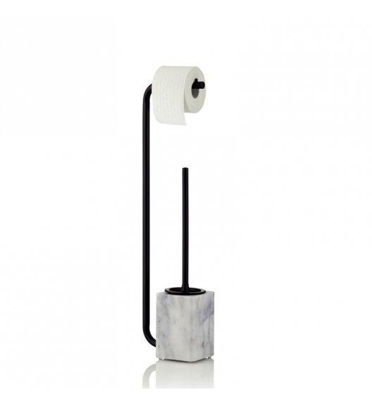 KELA Marmurowy zestaw toaletowy VARDA z drążkiem na papier toaletowy / FreeForm