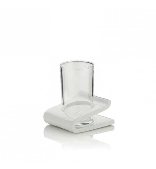 KELA Kubek łazienkowy na podstawce LIAM biały / FreeForm