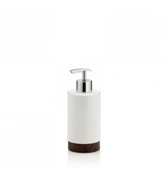 KELA Ceramiczny dozownik na mydło w płynie MIRKA dekor z ciemnego drewna / FreeForm