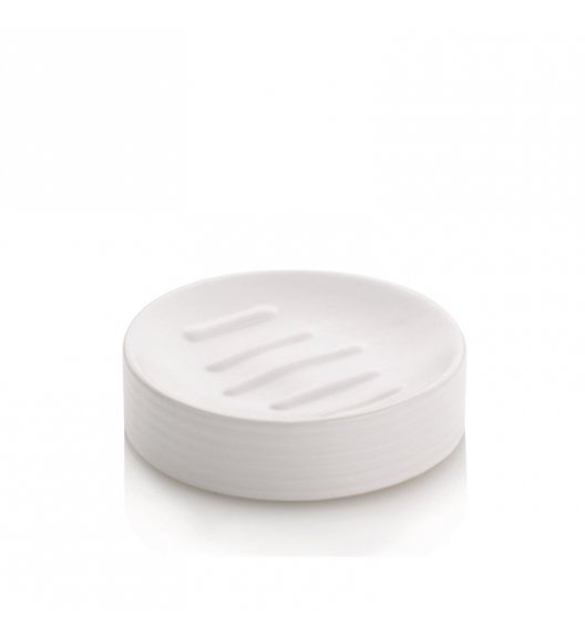 KELA Ceramiczna mydelniczka GROOVE biała / FreeForm