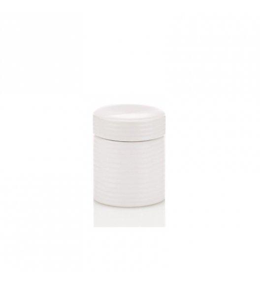 KELA Ceramiczny pojemnik na waciki GROOVE biały / FreeForm