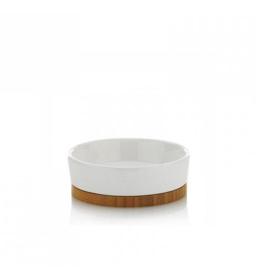 KELA Ceramiczna mydelniczka NATURA z bambusową podstawką / FreeForm