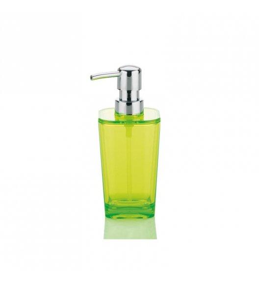 KELA Przeźroczysty dozownik na mydło w płynie KRISTALL zielony / FreeForm