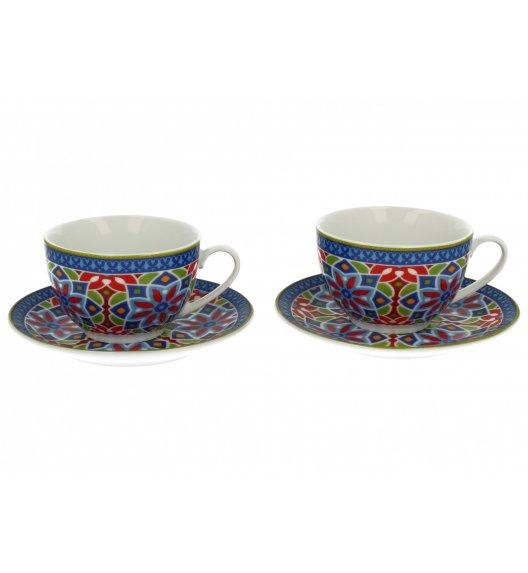 DUO AGADIR Komplet 2 Filiżanki ze spodkami 200 ml / Porcelana