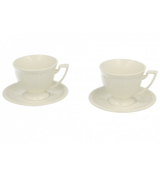 DUO CASSETTE Komplet 2 filiżanek 80 ml ze spodkami / porcelana