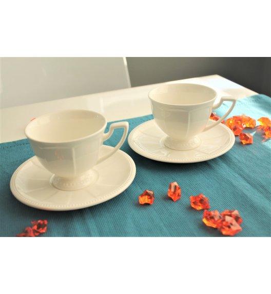 DUO CASSETTE Komplet 2 filiżanek 230 ml ze spodkami / porcelana