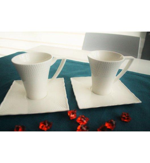 DUO RITZ Komplet 2 Filiżanek 90 ml ze spodkami / porcelana