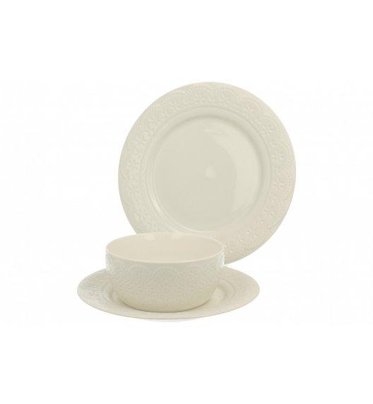 DUO KORONKA Komplet obiadowy 18 el / 6 osób / porcelana