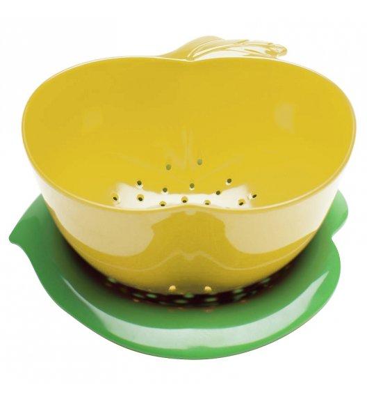 WYPRZEDAŻ! ZAK! DESIGNS Durszlak z podstawką, jabłko żółto - zielone / Btrzy