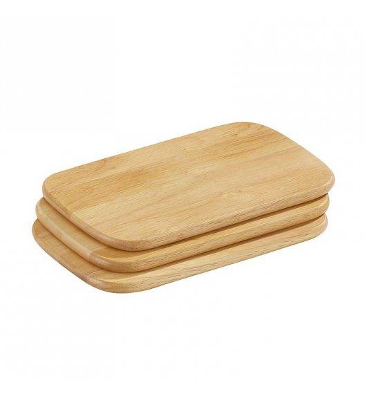 ZASSENHAUS Zestaw 3 desek do krojenia z drewna kauczukowego 22 × 15 / FreeForm