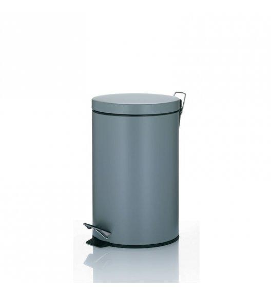 KELA Kosz na śmieci otwierany pedałem LEANDRO szary 12,0 l / FreeForm