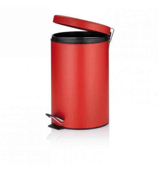 KELA Kosz na śmieci otwierany pedałem JARON czerwony 12,0 l / FreeForm