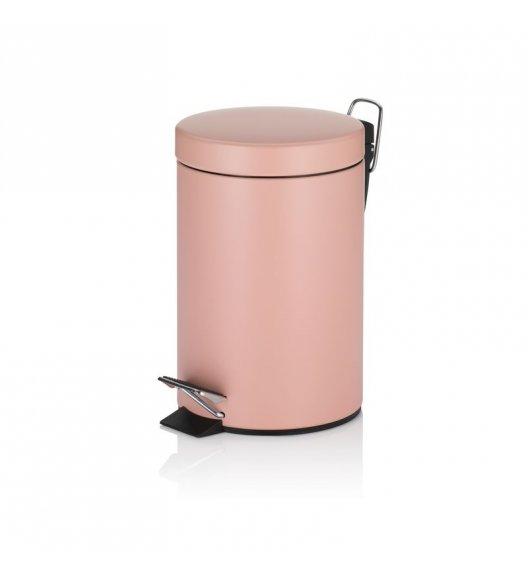 KELA Kosz na śmieci otwierany pedałem ROSE różowy, matowy 3,0 l / FreeForm