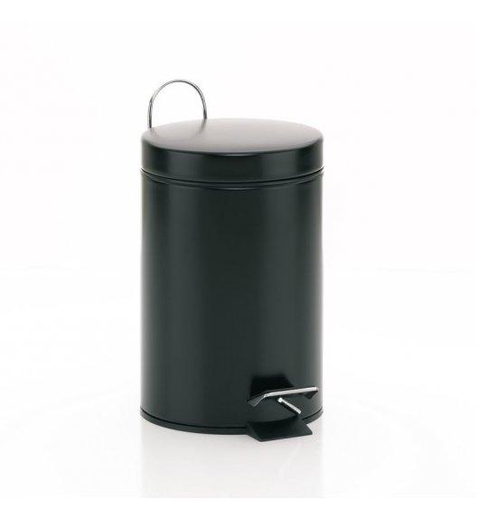 KELA Kosz na śmieci otwierany pedałem BERRY czarny, matowy 3,0 l / FreeForm