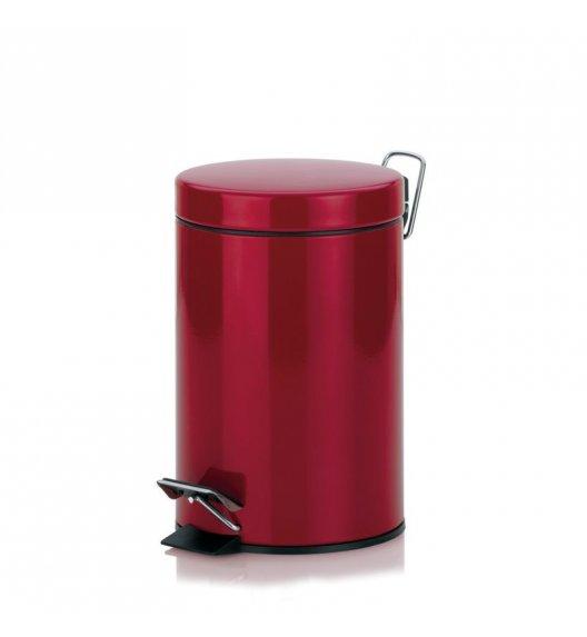 KELA Kosz na śmieci otwierany pedałem AMARELO czerwony 3,0 l / FreeForm