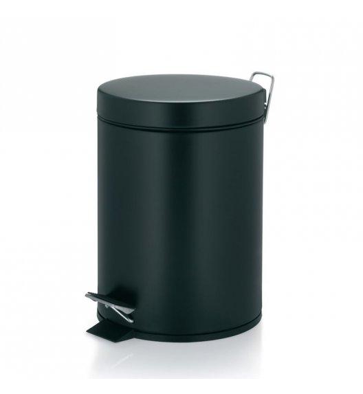 KELA Kosz na śmieci otwierany pedałem AARON czarny, matowy 5,0 l / FreeForm