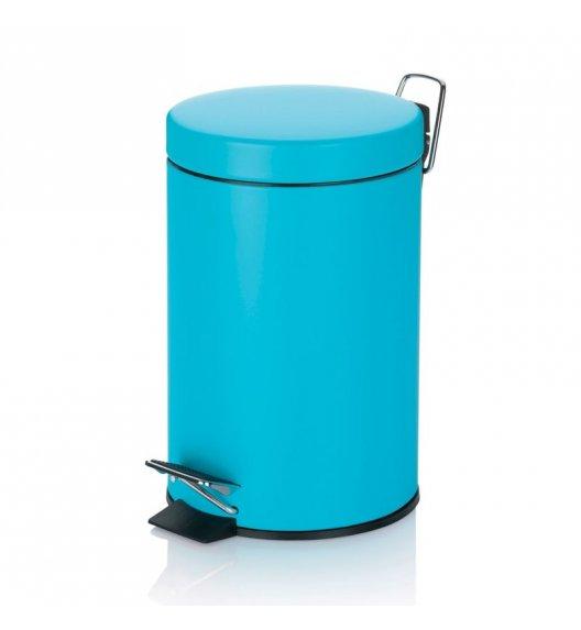 KELA Kosz na śmieci otwierany pedałem AQUA niebieski 3,0 l / FreeForm