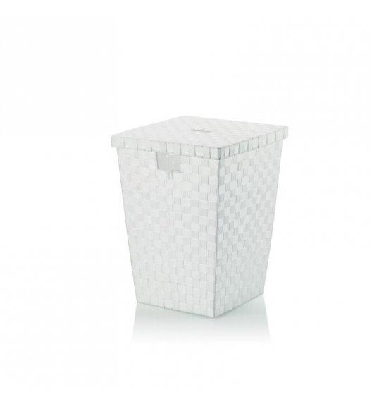 KELA Kosz z tworzywa sztucznego na pranie ALVARO biały / FreeForm