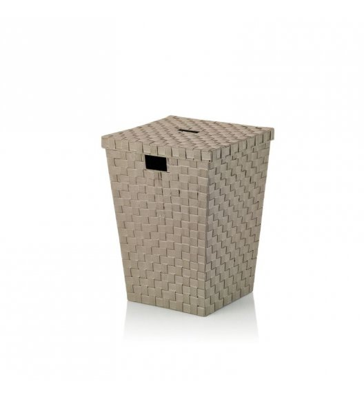 KELA Kosz z tworzywa sztucznego na pranie ALVARO brązowoszary / FreeForm