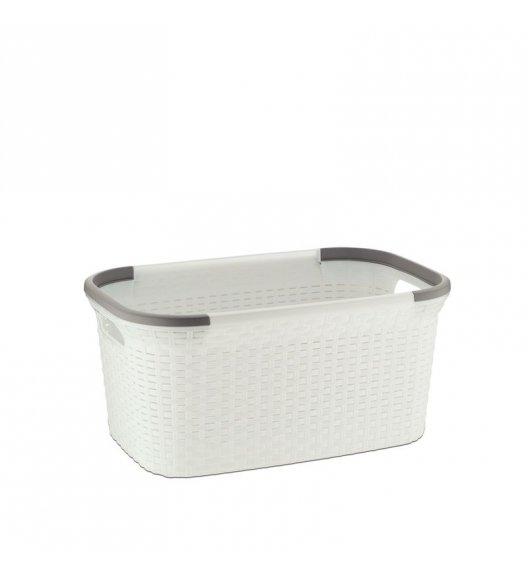 KELA Kosz / miska z tworzywa sztucznego na pranie RIO biały / FreeForm