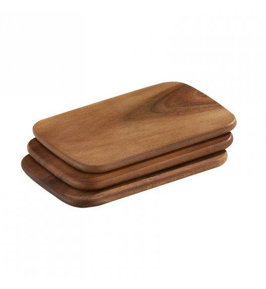 ZASSENHAUS Zestaw 3 desek do krojenia z drewna akacjowego 22 × 15 × 1 cm / FreeForm