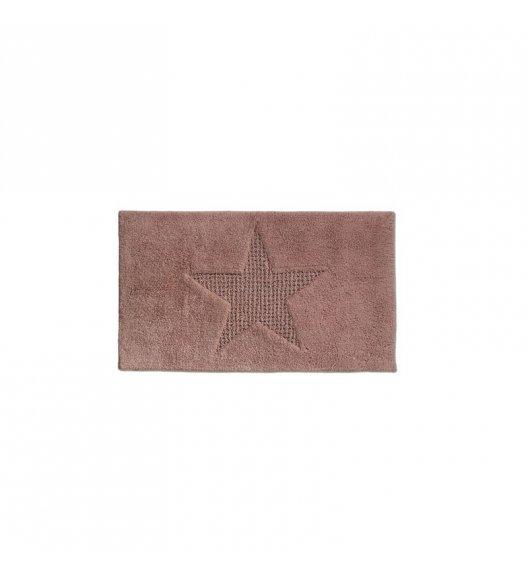 KELA Bawełniana mata łazienkowa LINDANO brązowa 65 × 55 cm / FreeForm